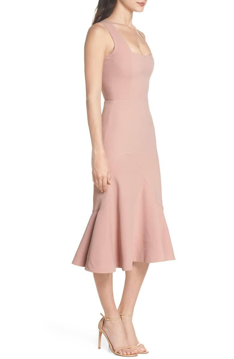 34ae1ec5bf62 Monica Tea Length Trumpet Dress, Alternate, color, BLUSH ...