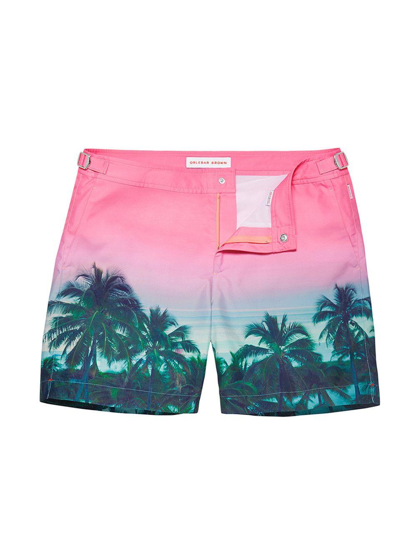 67d3ae7d2a ORLEBAR BROWN Palm print Bulldog swim shorts. #orlebarbrown #cloth ...