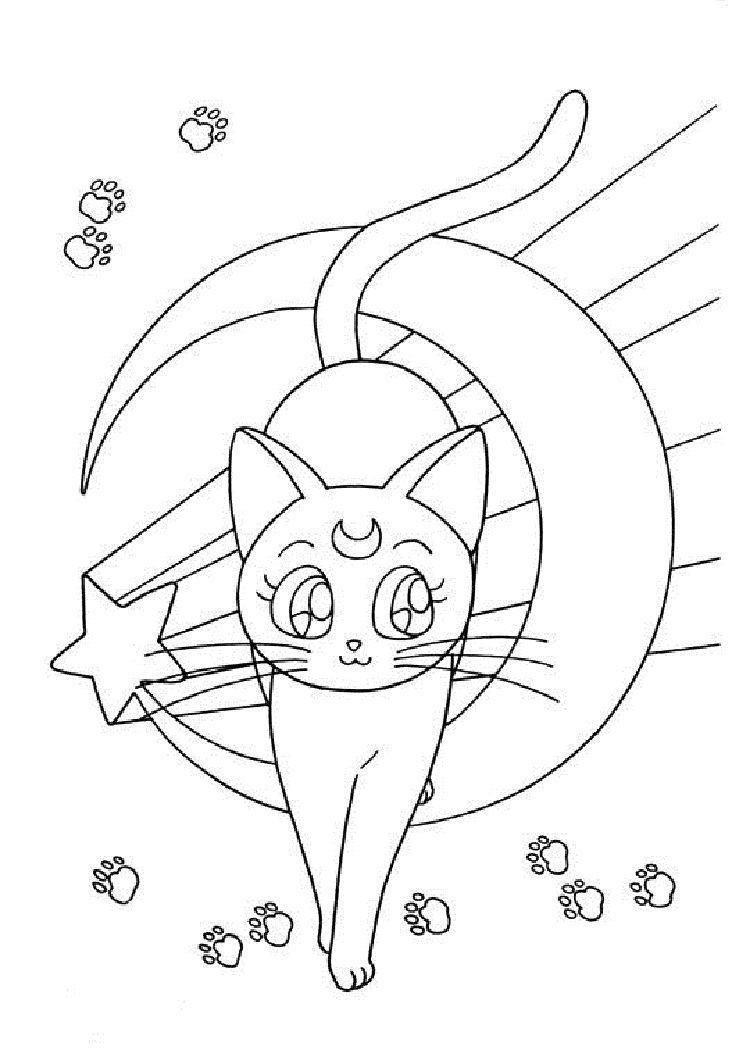 Sailor Moon Luna Coloring Pages Coloring Pages Sailor Sailor
