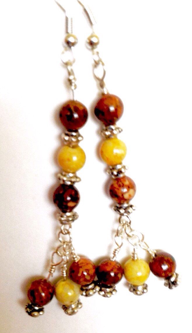 A personal favorite from my Etsy shop https://www.etsy.com/listing/233427018/earthy-mama-earrings-by-bhakti-kreationz