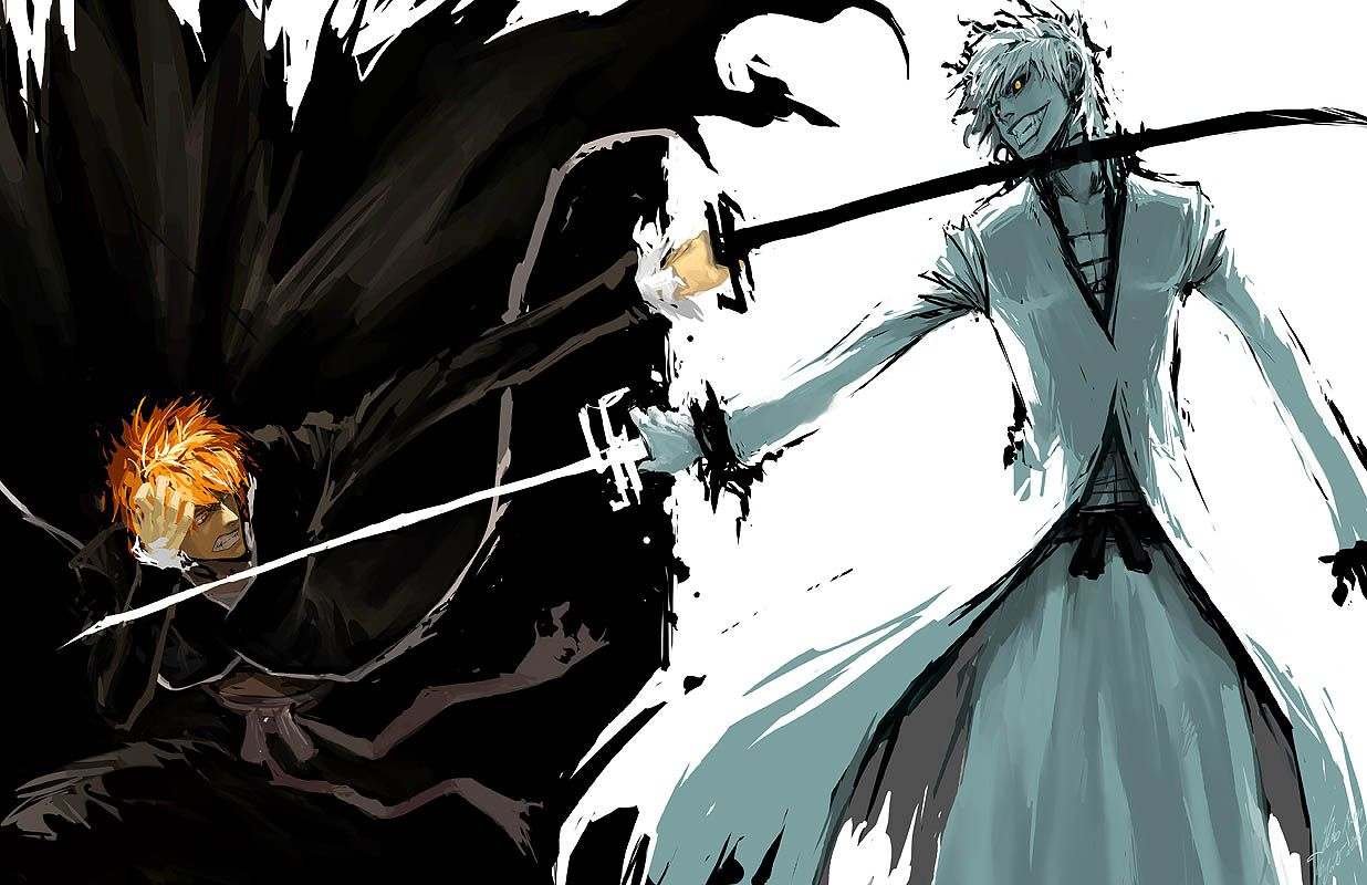 Carving Idea 5 Hollow Ichigo and Ichigo from Bleach
