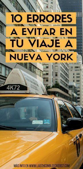 10 errores habituales cuando se visita Nueva York por primera vez