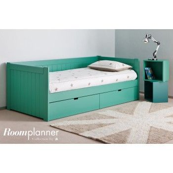 Cama nido bah a con 2 cajones muebles infantiles for Cama nido con cajones