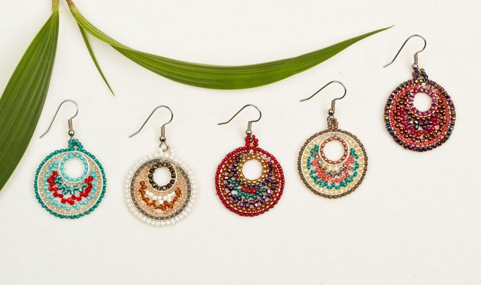 Beachy Fair Trade Seed Bead Earrings ** Altiplano