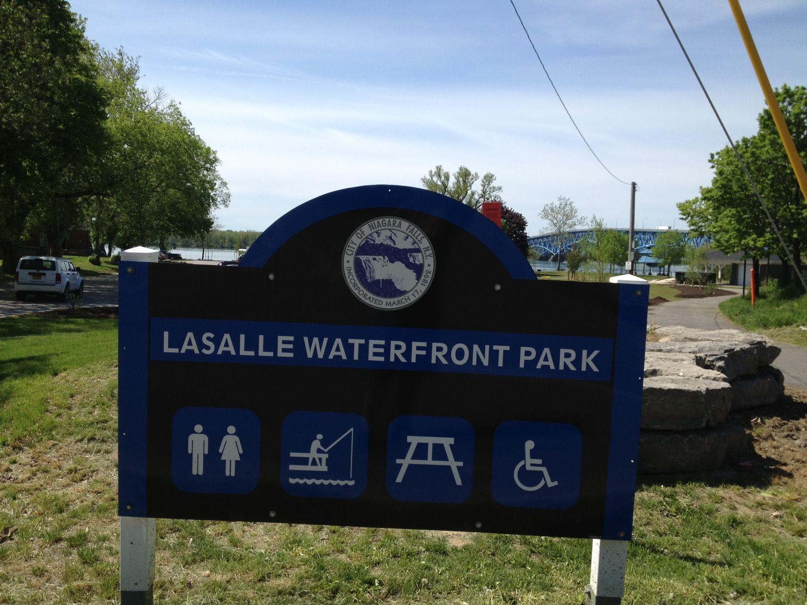 Lasalle waterfront park niagara falls ny along the