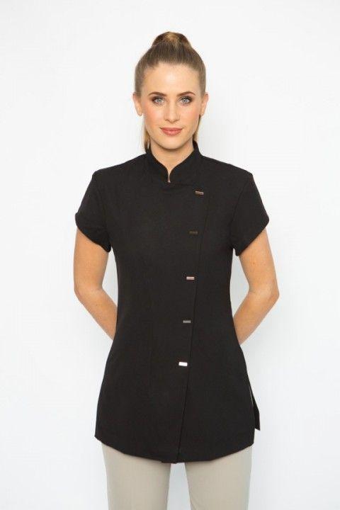Spa 04 tunic spa uniform modelo de fardas pinterest for Uniform spa therapist