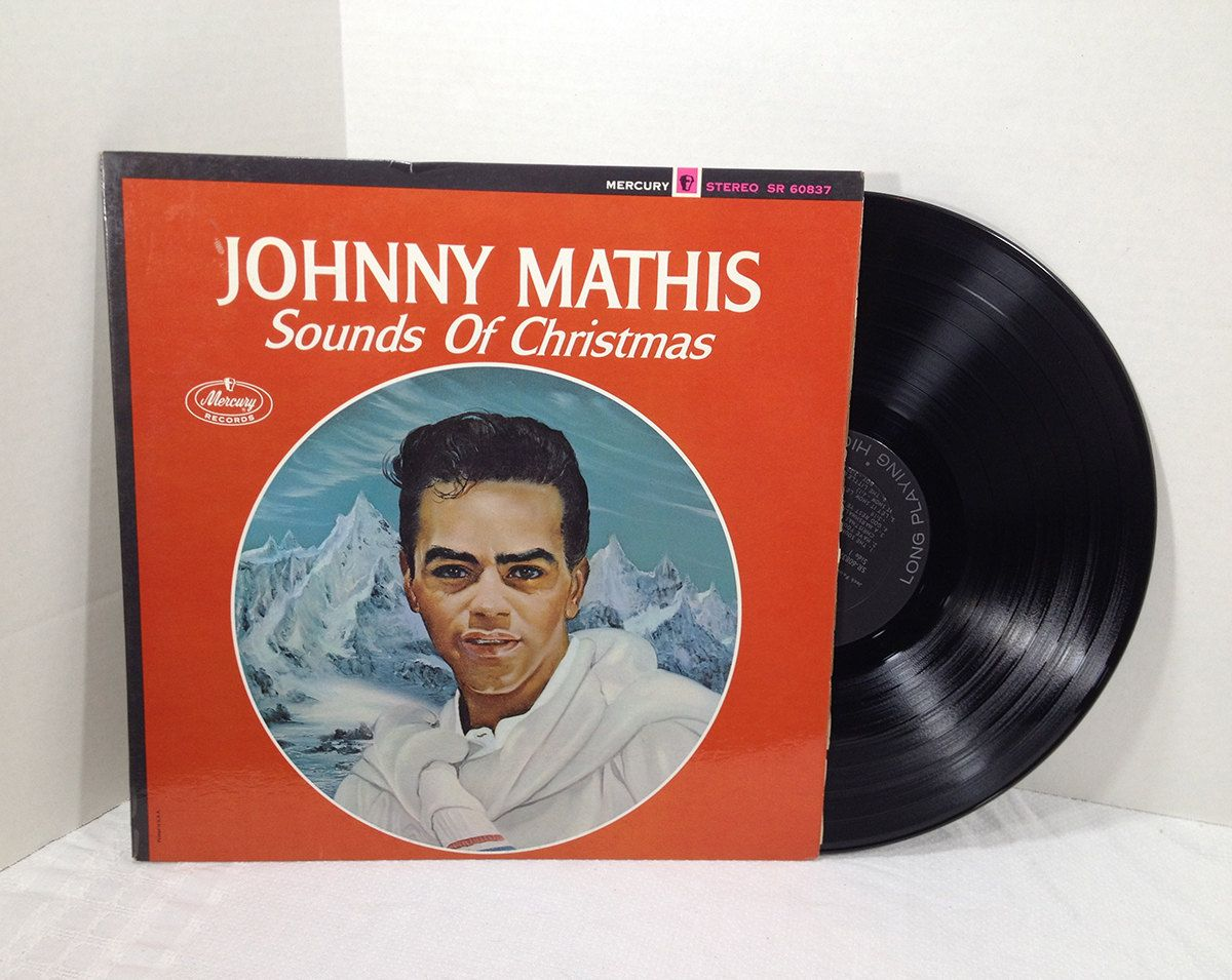Johnny Mathis Sounds Of Christmas 1963 Vinyl Record vintage LP 60\'s ...