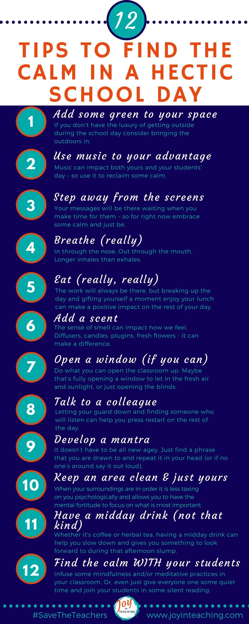 12 Tips To Find The Calm In A Hectic School Day Teaching Tips Homeschool Advice School Days