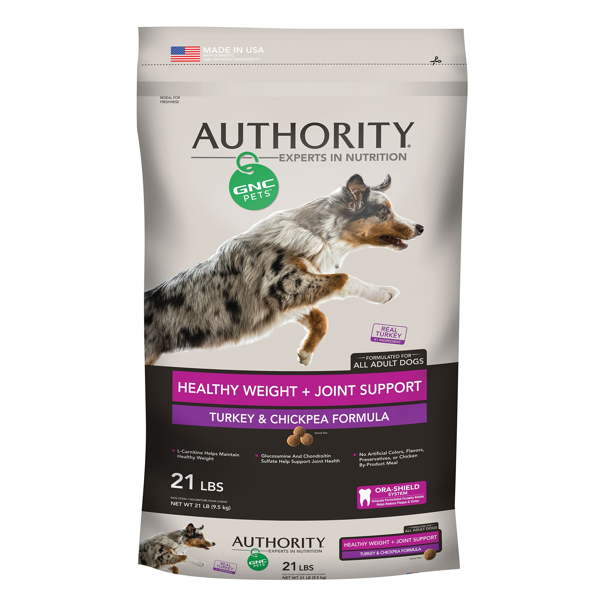 Authority Gnc Pets Healthy Weight Joint Support Adult Dog Food