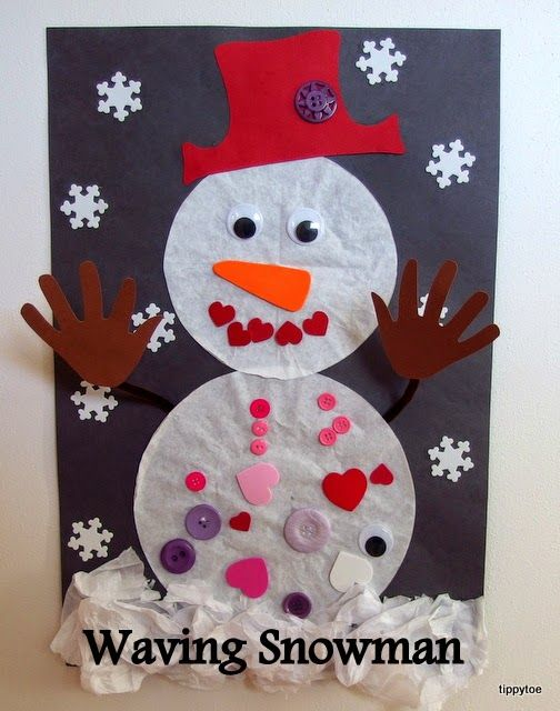 Waving Snowman Craft