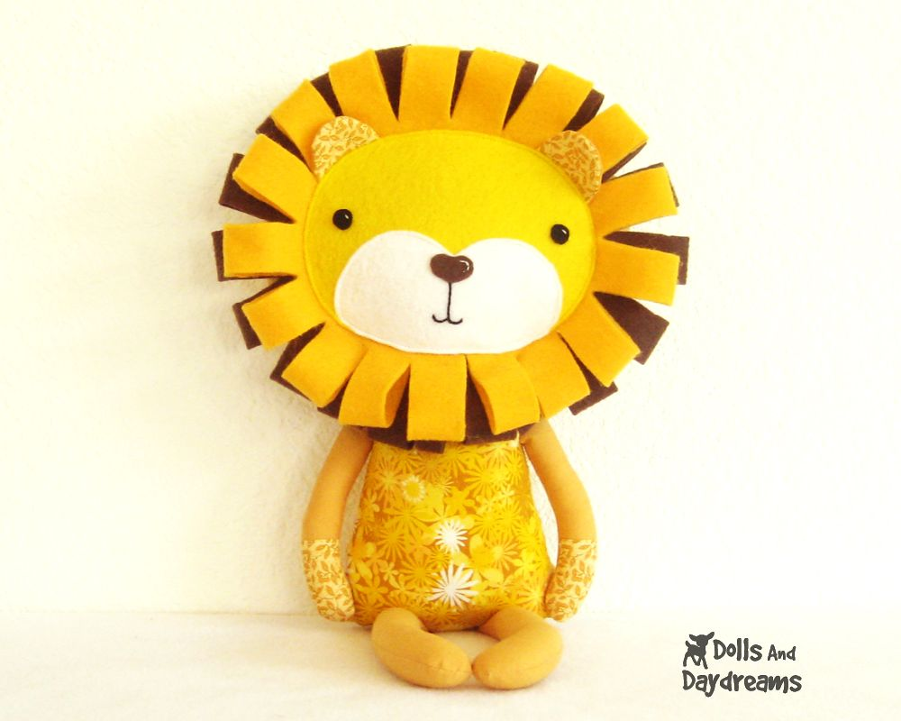 Dolls And Daydreams - Doll And Softie PDF Sewing Patterns: Lion ...