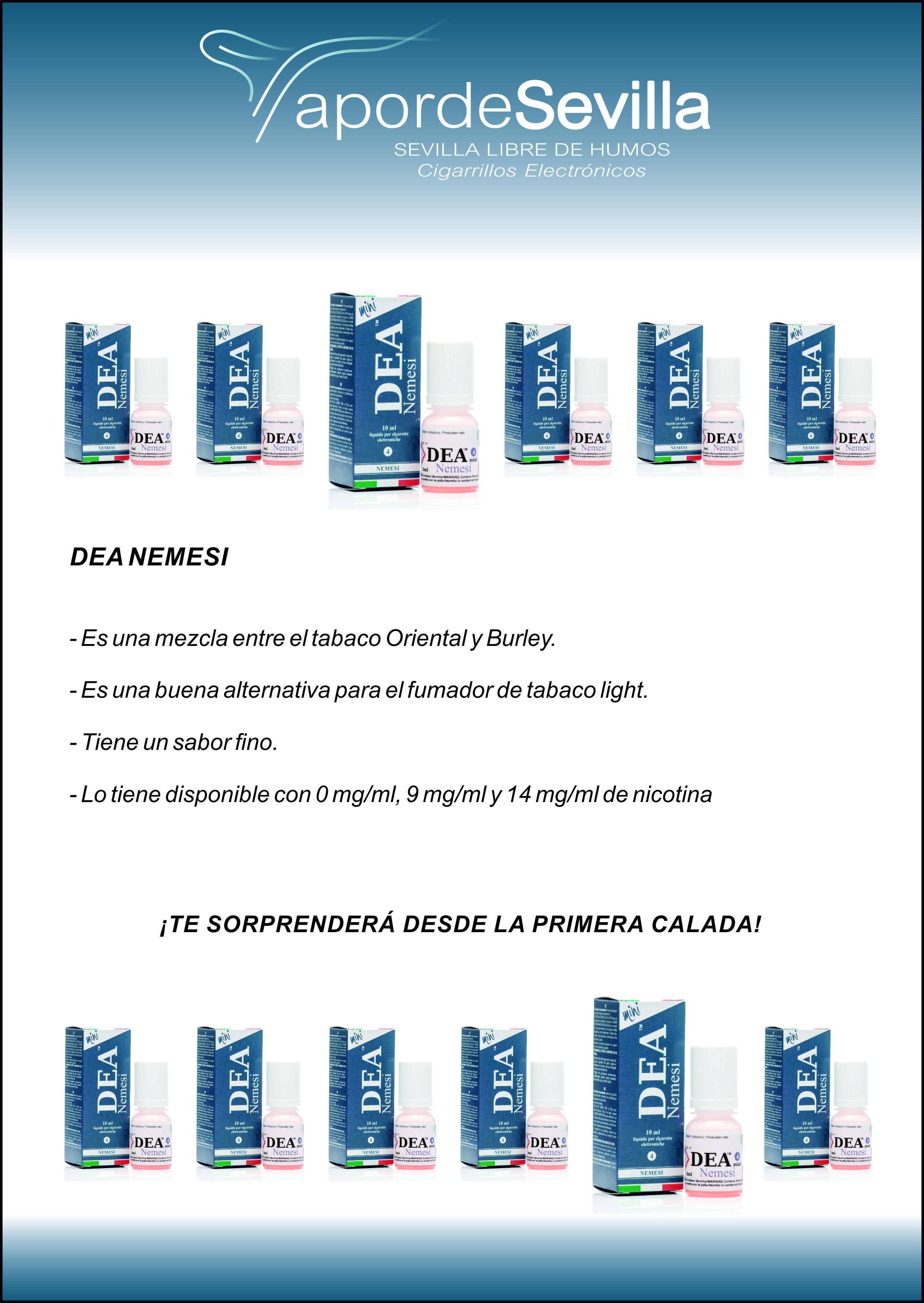 E-líquido DEA Nemesi. Te sorprenderá desde la primera calada.  #ecigs #eliquids http://www.vapordesevilla.es/#!e-lquidos-dea-flavor/c1k8o