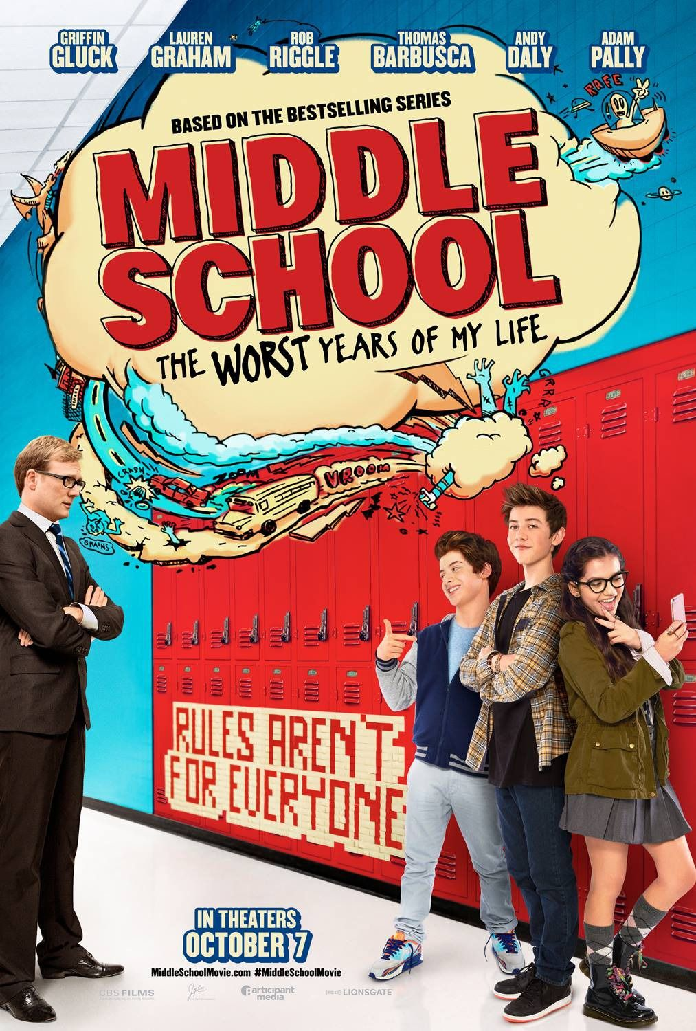 Middle School The Worst Years Of My Life Movie Poster 3 My Life Movie Middle School Movie Middle School