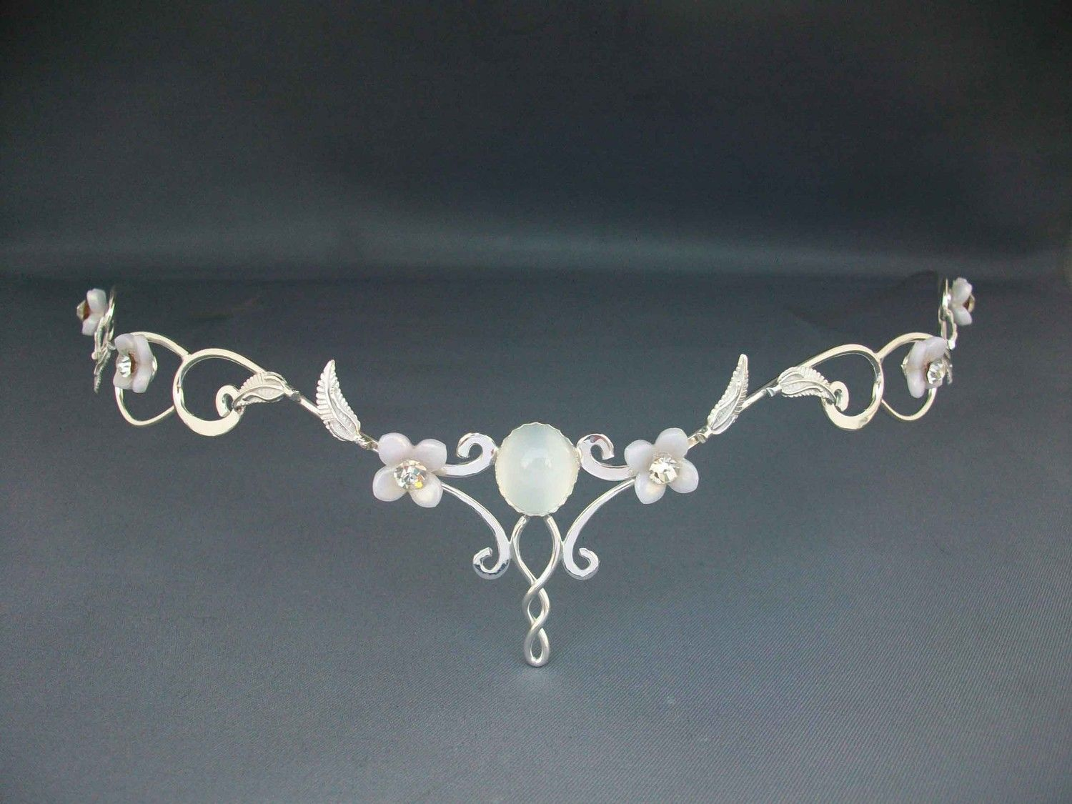 Mae circlet wedding bridal celtic medieval renaissance headpiece