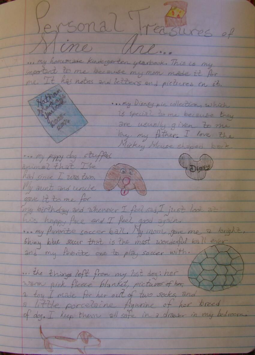 """6th grader Nate shares his writer's notebook page inspired by both """"Old Black Fly"""" by Jim Aylesworth and a passage from chapter 1 of """"Boy's Life"""" by Robert McCammon. Here's my lesson link: http://corbettharrison.com/Personal-Treasures.html"""