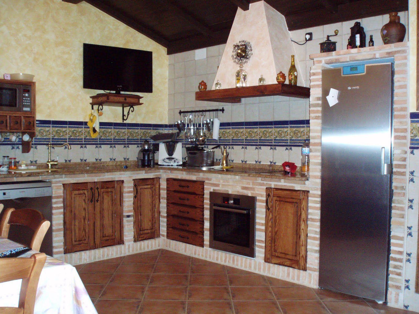 Resultado de imagen de cocinas r sticas de ladrillo for Cocinas camperas rusticas