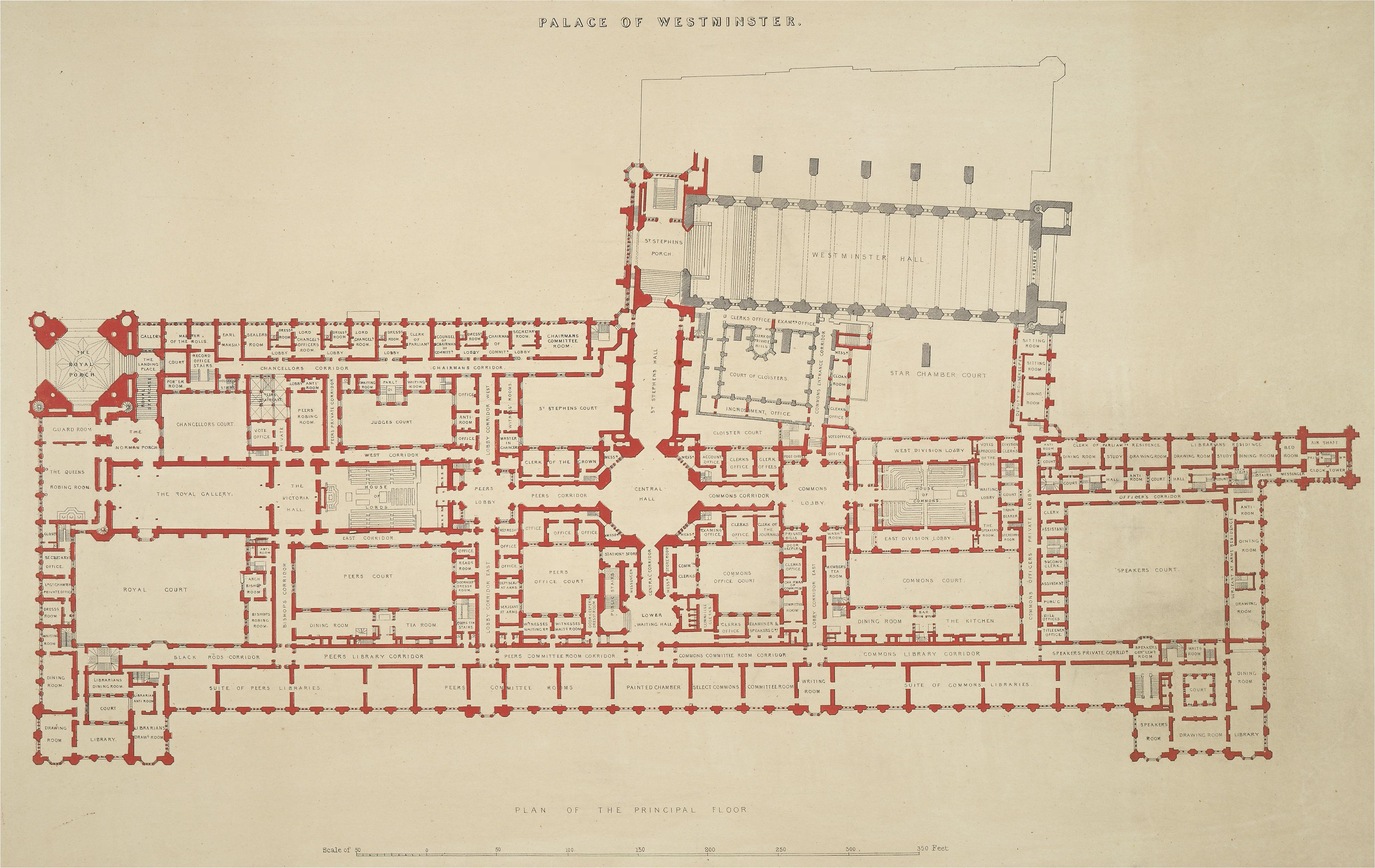 Westminster palace floor plan london england