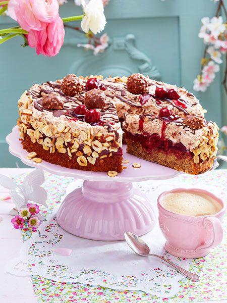 Feine RocherTorte Rezept  Tolle Torten  Torte cake