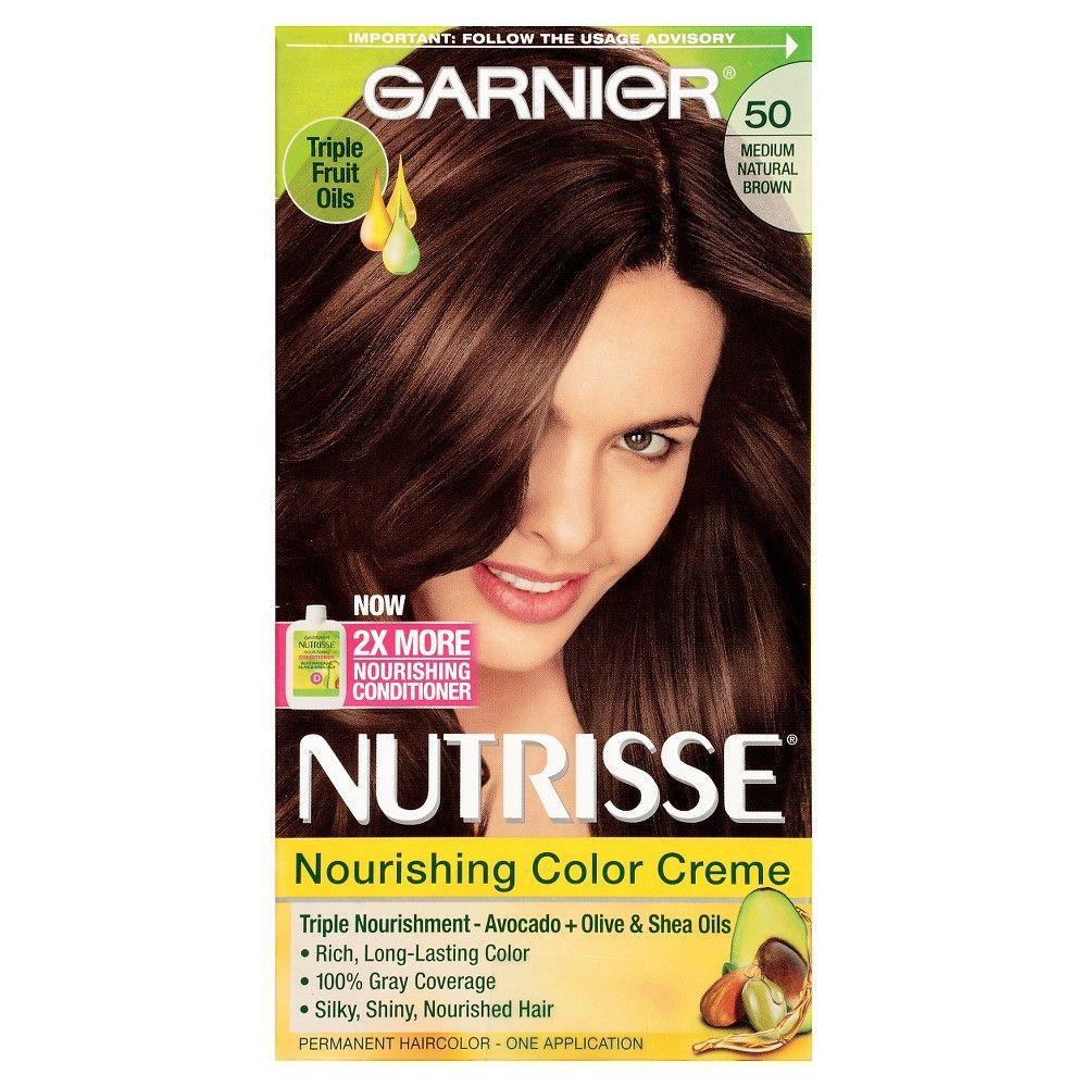 Garnier Nutrisse Nourishing Color Creme 50 Medium Natural Brown