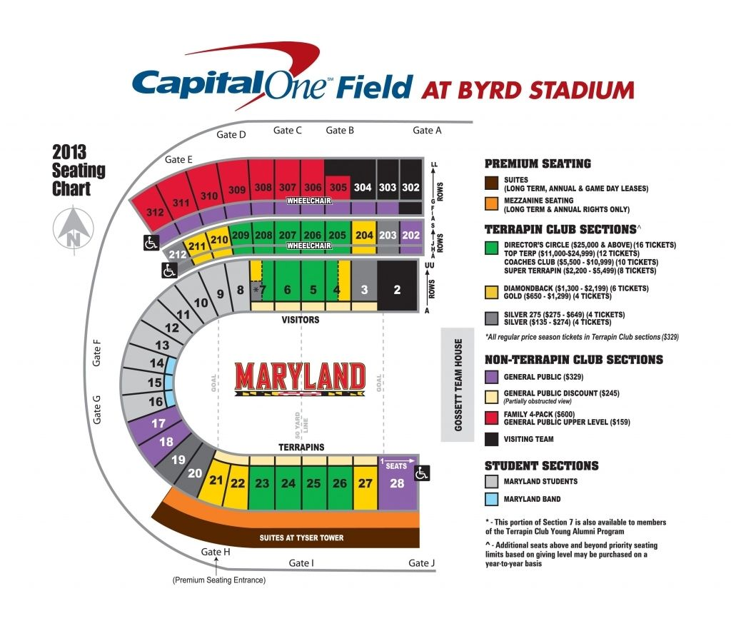 Maryland Football Stadium Seating Chart