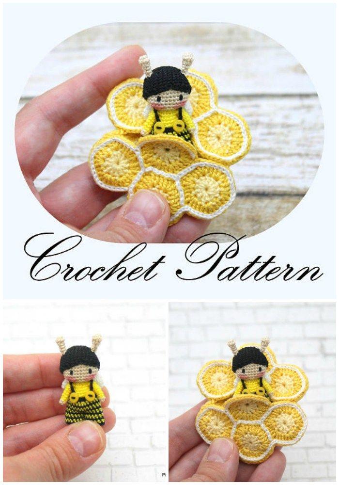 Itsy Bitsy Teeny Weeny Yellow Crochet Bee | Pinterest | Tejido ...