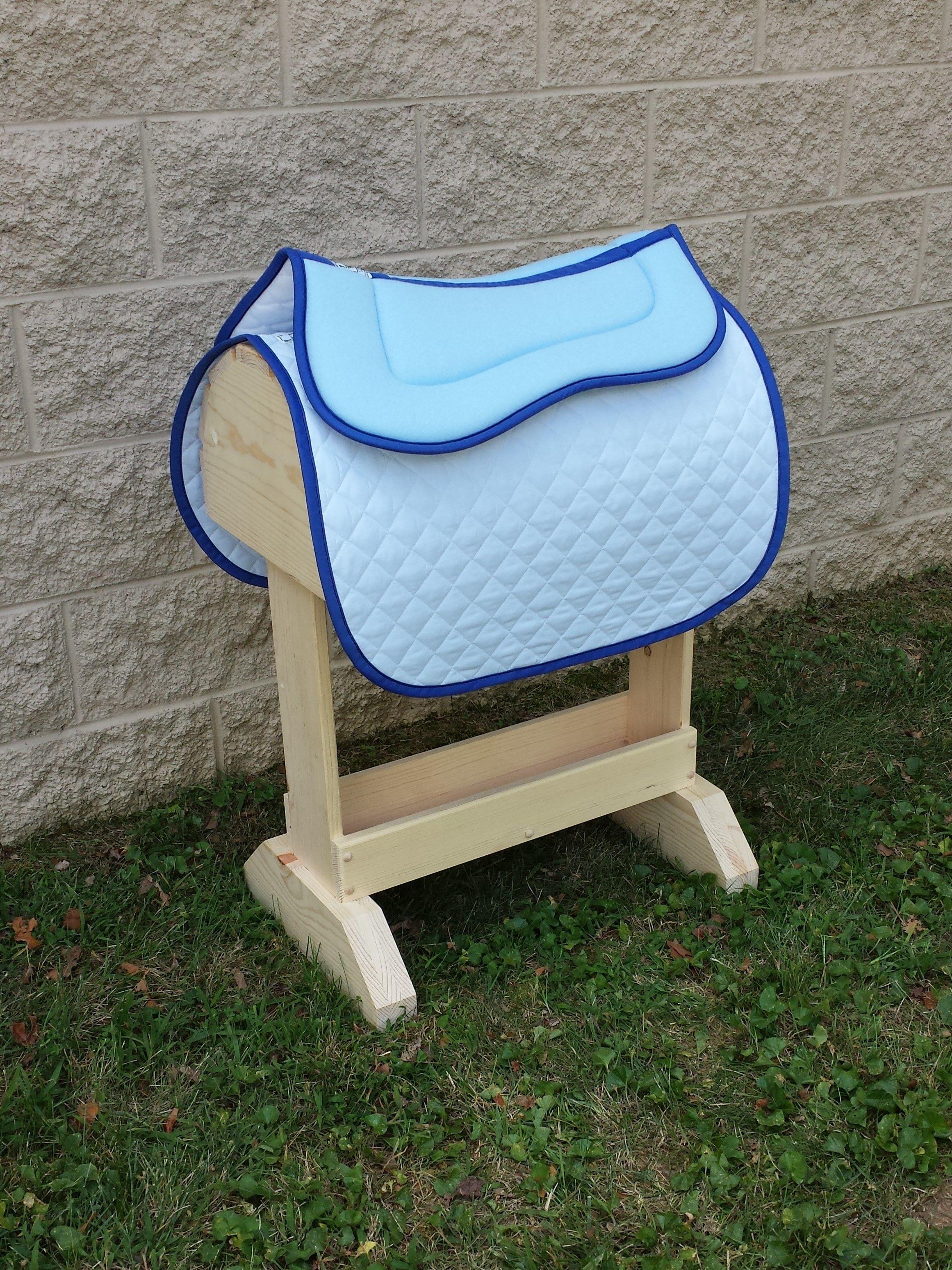 Light Blue With Royal Blue Trim Half Pad And Baby Pad Shop Wilkers Com Custom Saddle Pad Saddle Pads Saddle Pads English