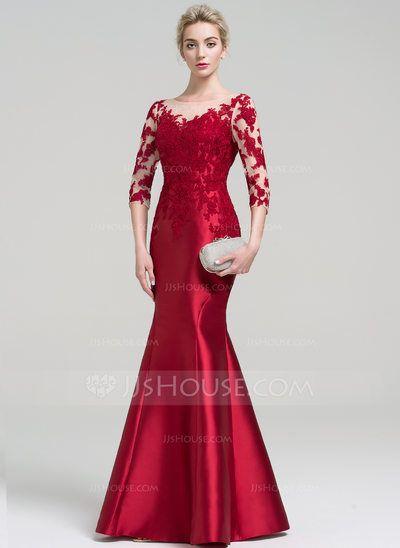 Vestido Vermelho de Renda Longo Sereia (6)