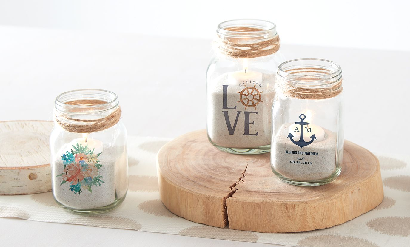 Diy mason jar centerpieces nautical u decor u coastal u diy