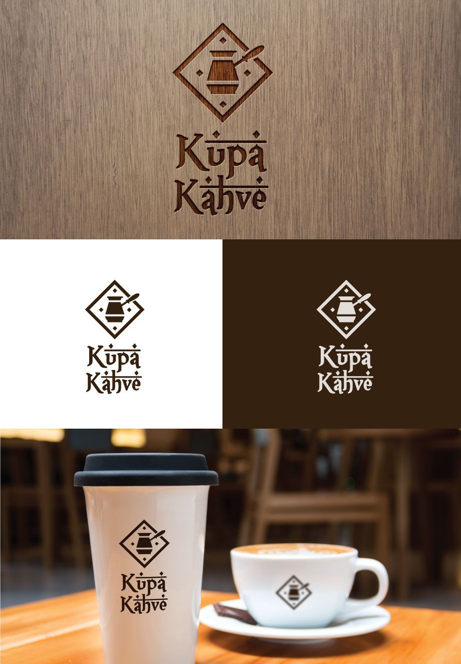 Logo For Turkish Coffee Shop Kupa Kahve Elegant Personable Logo Design By Kimdesigner Bri Coffee Bean Roasters Coffee Roasters Unique Business Cards Design