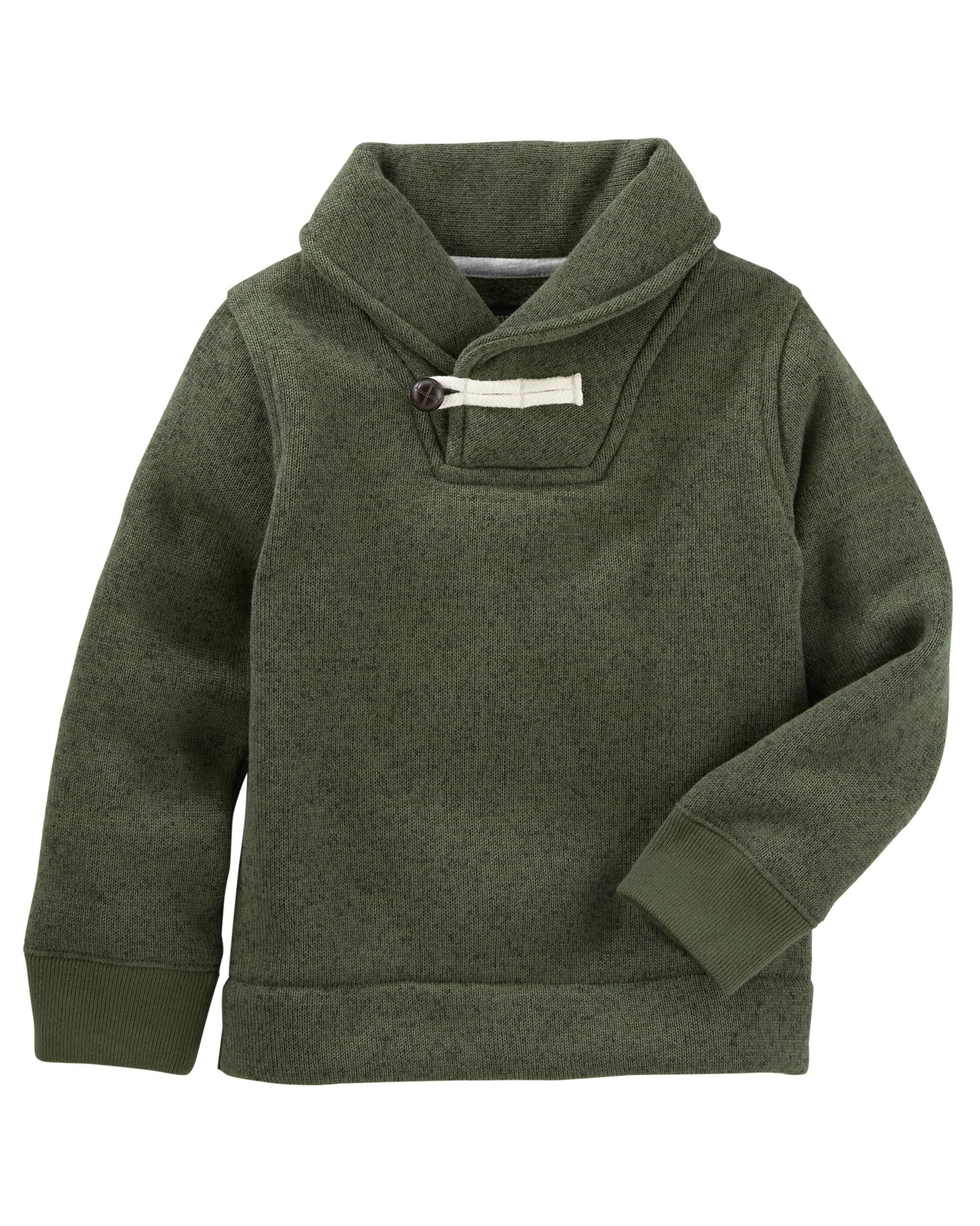 Sweater Fleece Pullover | Pullover, Toddler boys and Babies clothes