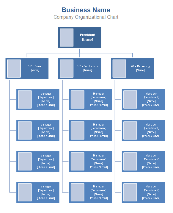 Download The Company Organizational Chart With Smartart From Vertex42 Com Organization Chart Organizational Chart Company Structure
