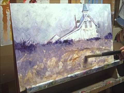 """▶ Oil Painting PART 3 of 3. Recreating """"Atlantic Sentinel"""" by Richard Schmid - YouTube"""