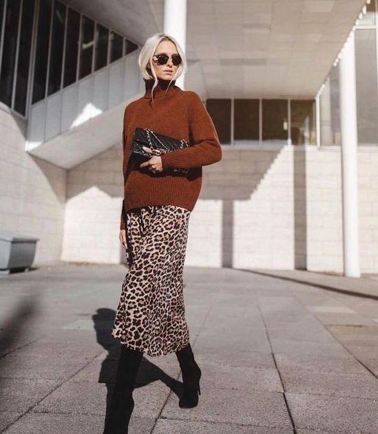leoapr etek kazak kombini 2018 19  #fashion #fashionphotography #fashionable #fa...