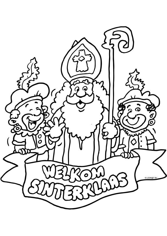 Welkom Sinterklaas Kleurplaat Liz Pinterest