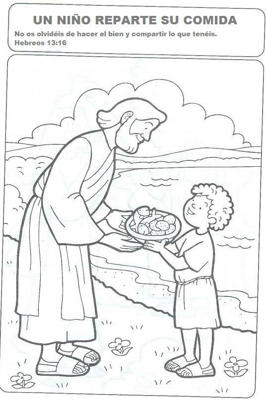 Alimentación de los cinco mil | escuelita | Barn y Måla