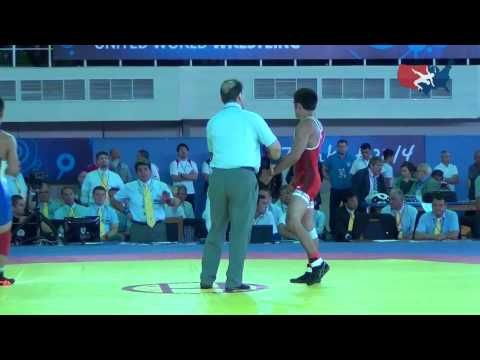 ▶ 57 KG Round 1 - Tony Ramos (USA) vs Bekhbayar Erdenebat (MGL) - YouTube