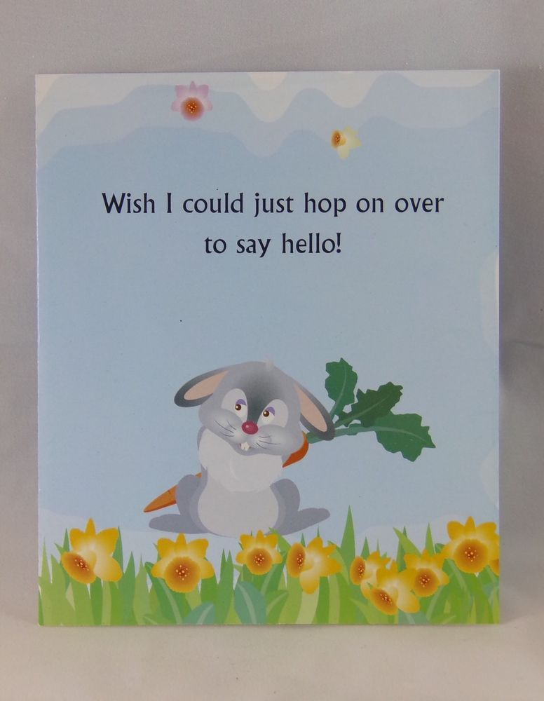 Hope greeting collection rabbit flowers missing you greeting card hope greeting collection rabbit flowers missing you greeting card collectibles paper vintage greeting cards ebay m4hsunfo