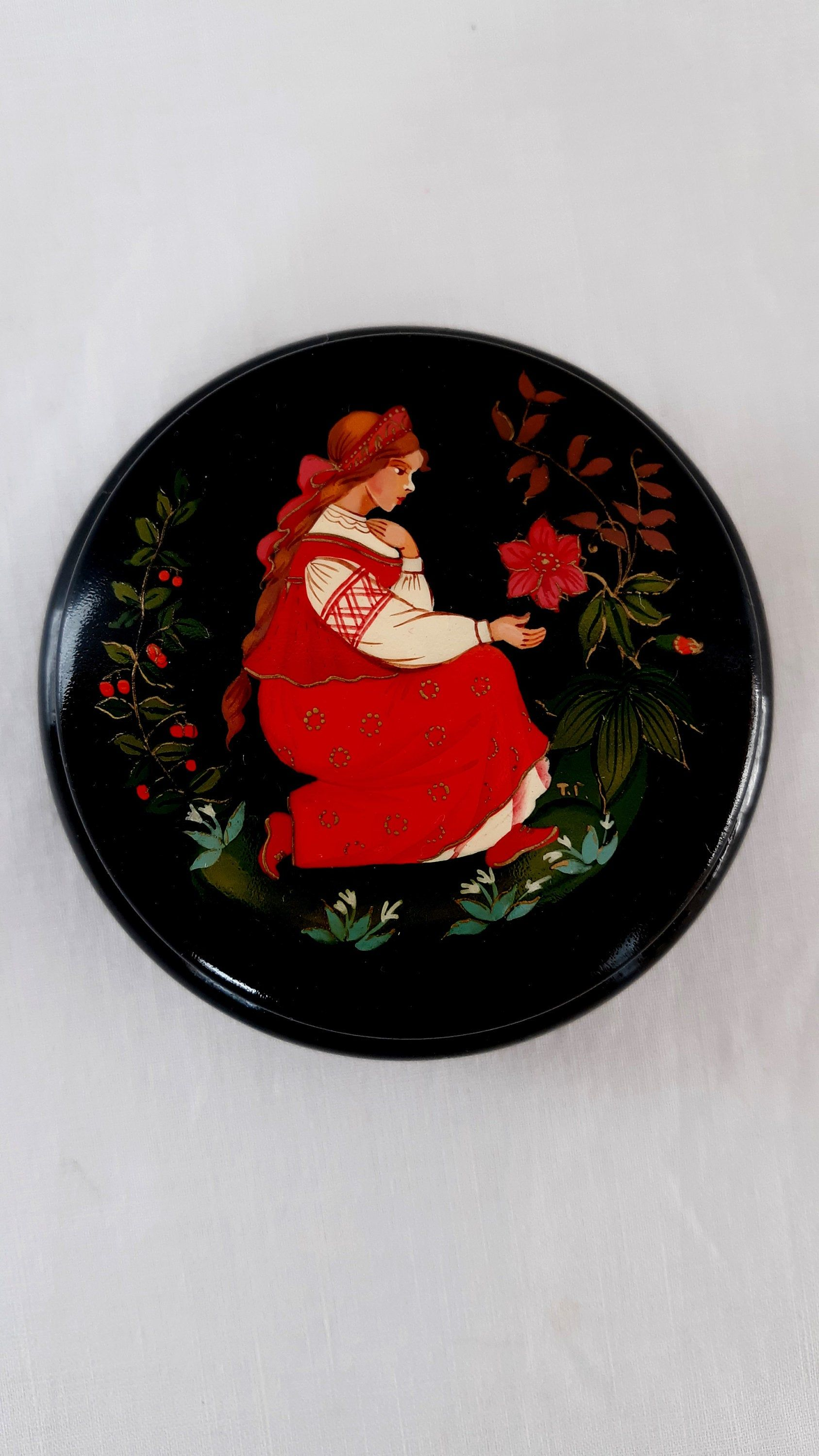 Jewelry Trinket Box Russian Lacquer BoxRussian North Russian Lacquer Miniature Hand Painted in Russia /… Big Size