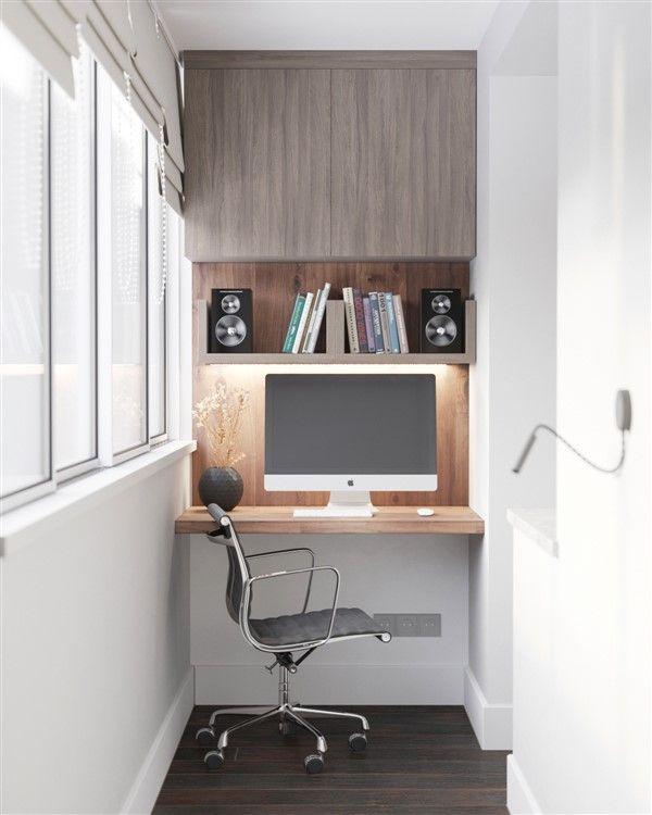 47 Turning Small Balcony Into Home Office Ideas