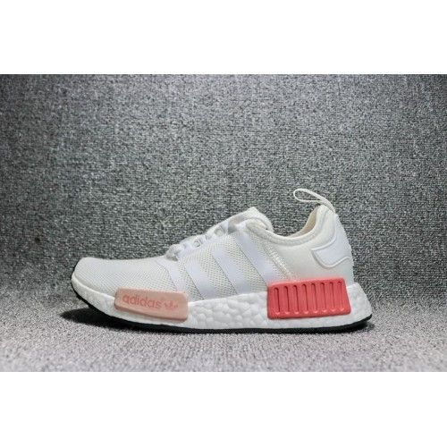 2017 Neue Adidas NMD R1 Shoes Weiß Rosa BY9952 Damen Adidas Shoes NMD Kaufen
