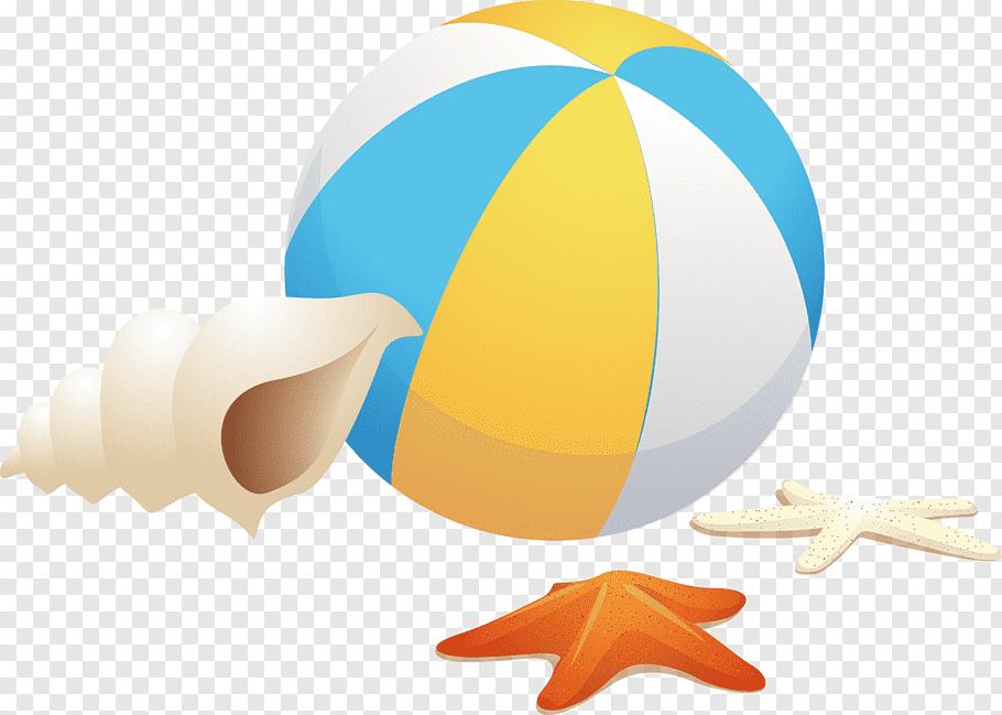 Beach Ball Gmd Computer File Beach Ball Conch Starfish Png Beach Ball Beach Illustration Beach Cartoon