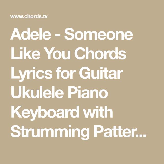 Ukulele Chords For Someone Like You Images Chord Guitar Finger