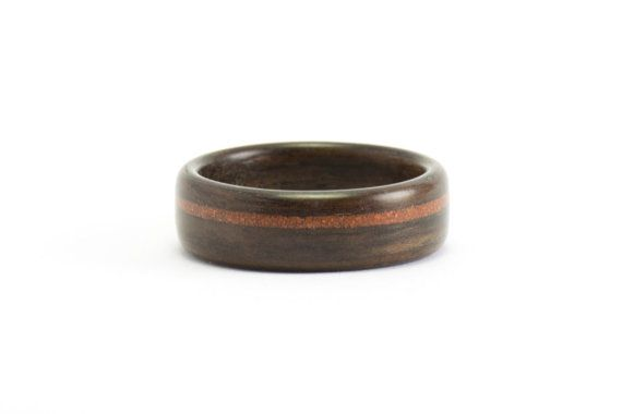 Wood Wedding Ring Ebony and Brick A Piece of Montreal by Ebeniste