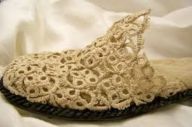 Awesome tatted slipper