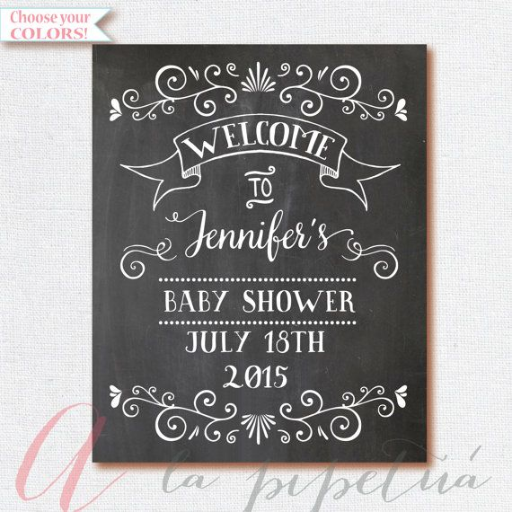 welcome baby shower sign chalkboard welcome by alapipetuadesign