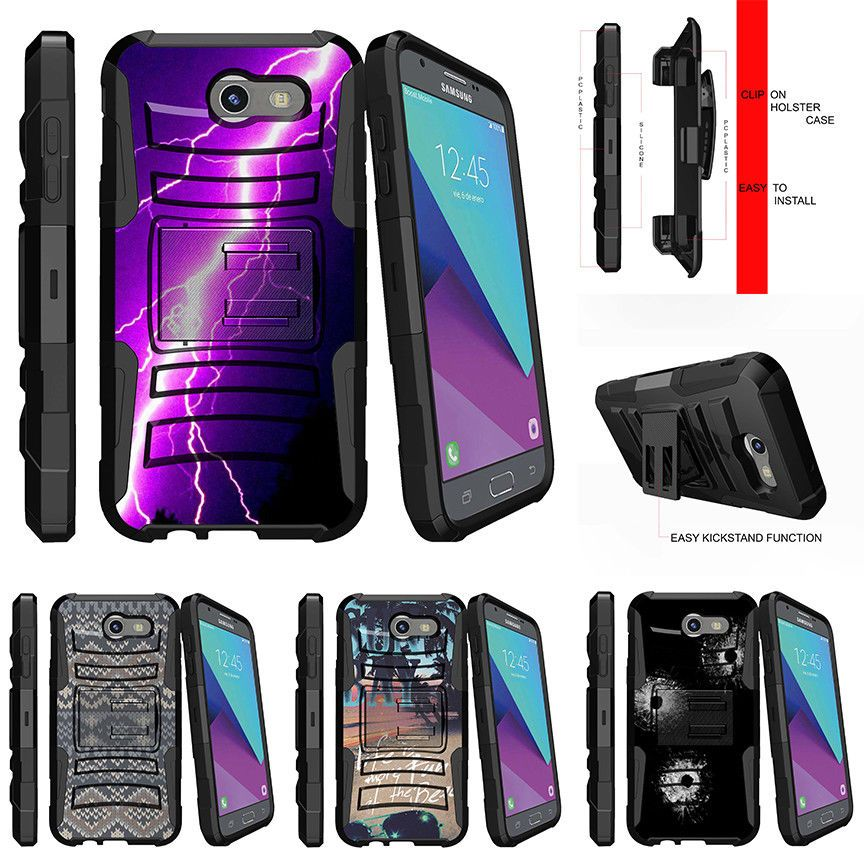 For Samsung Galaxy J3 Luna Pro J3 Prime 2017 Stand Clip Case Purple Bolt Ebay Samsung Galaxy J3 Samsung Galaxy Galaxy J3