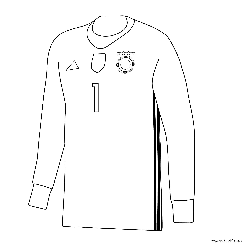 Das #Torwart-#Trikot der #DFB-Mannschaft. Mit diesem #Ausmalbild ...
