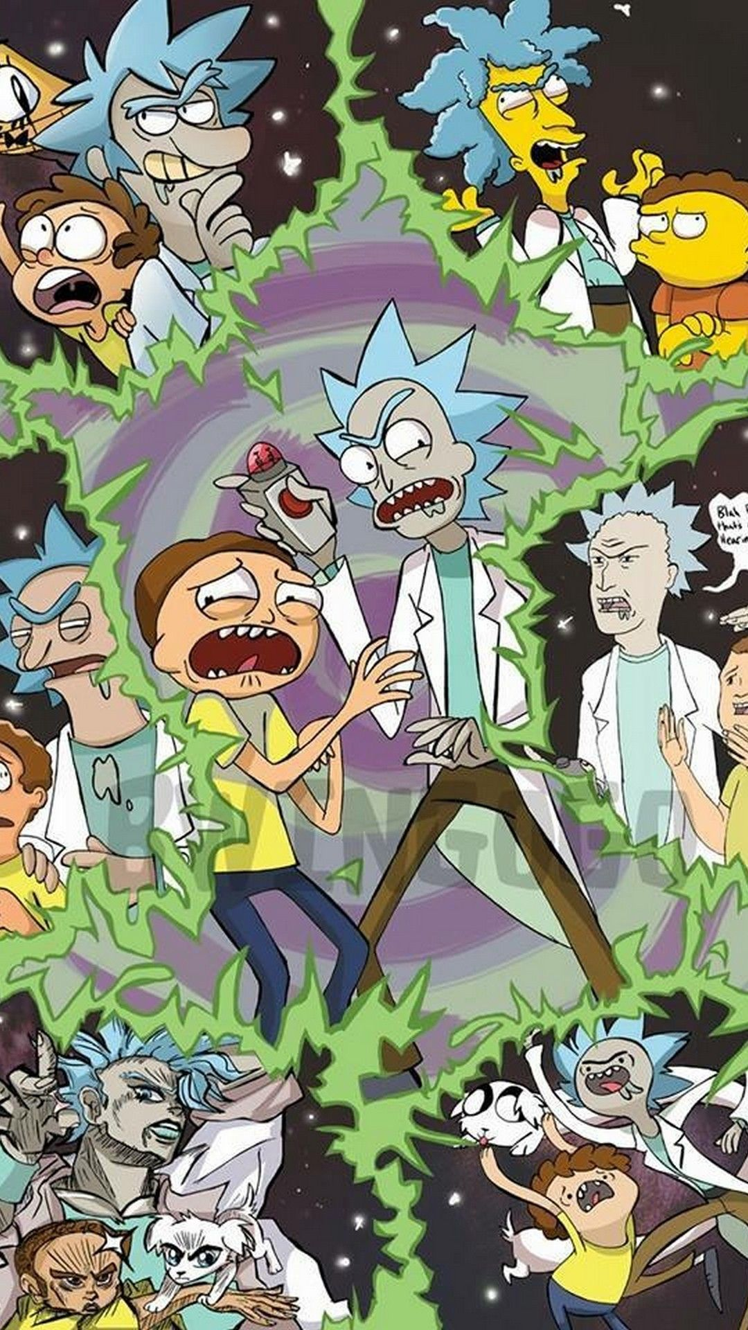 Rick And Morty Iphone Wallpaper Wallpapers Iphone 45 Rick And Morty Poster Rick And Morty Cartoon