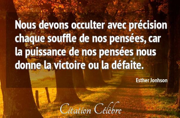 Citation Victoire Defaite Chaque Esther Jonhson Phrase