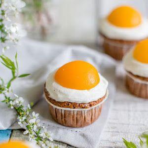 Zum Osterfest: Süße Spiegeleier-Muffins mit Schokolade #apfelcupcakes